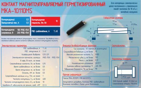 Герконы МКА-10110MS